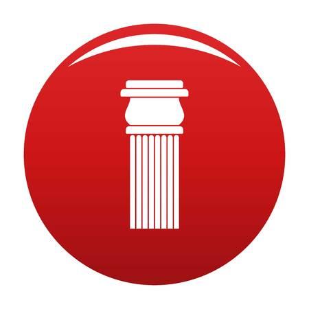 Stone column icon red Stock Photo