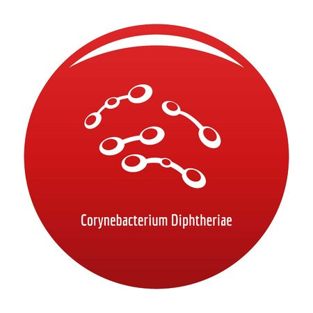 Corynebacterium diphtheriae icon red Stock Photo