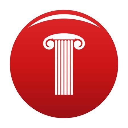 Marble column icon red Stock Photo