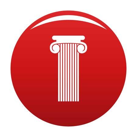 Roman column icon red Stock Photo