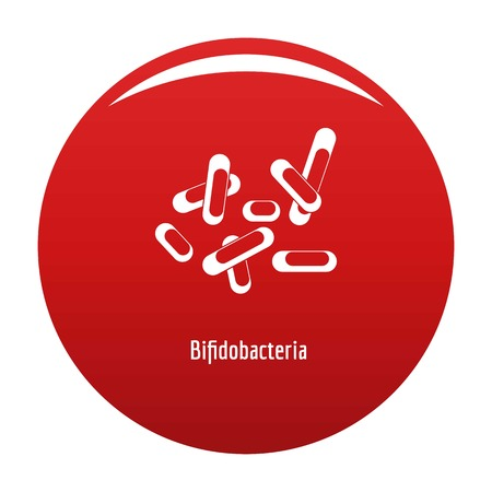 Bifidobacteria icon red Stock Photo
