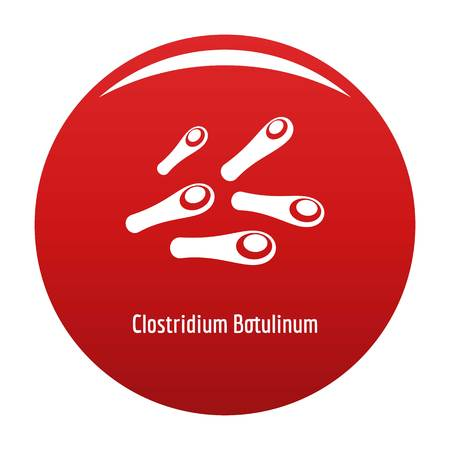 Clostridium botulinum icon red