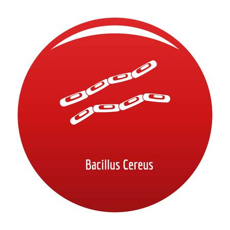 Bacillus cereus icon red Stock Photo
