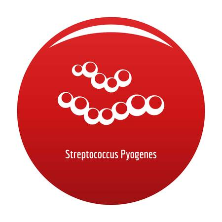 Streptococcus pyogenes icon red
