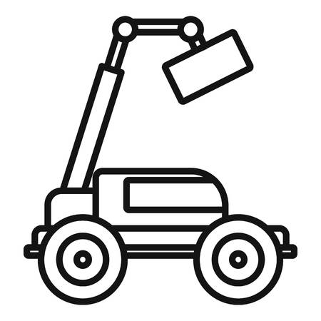 Agricultural lift machine icon, outline style
