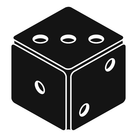 Small dice icon, simple style
