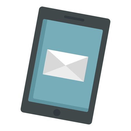 Modern tablet icon, flat style