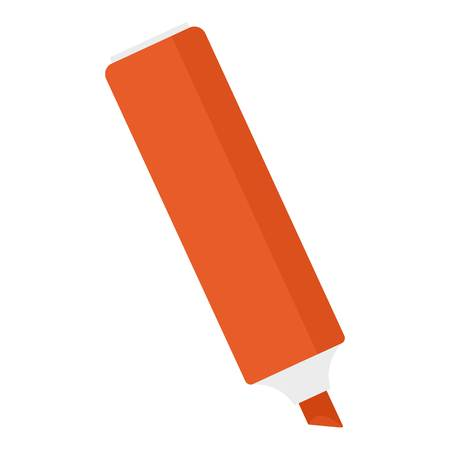 Red marker icon, flat style