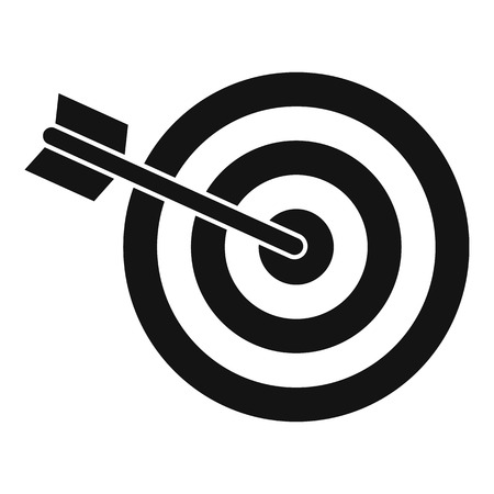 Business target icon, simple style