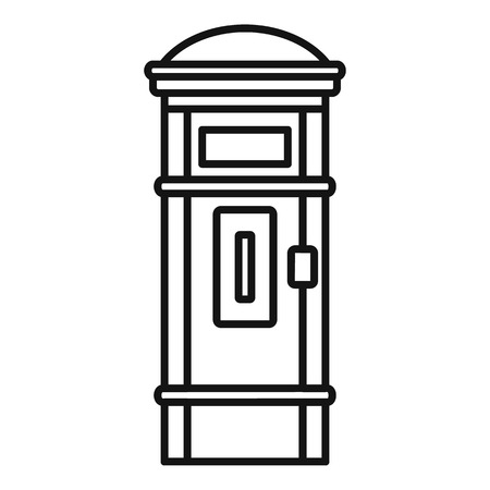 Street post box icon, outline style