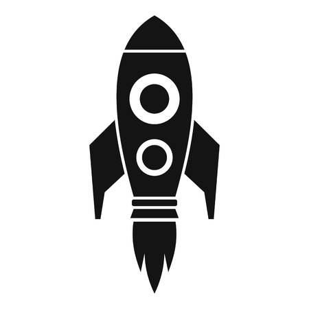Business rocket fly icon, simple style