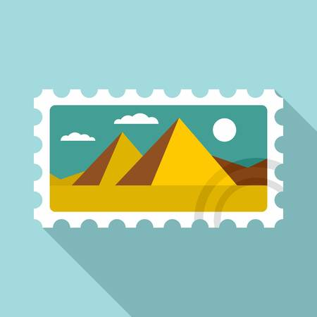 Envelope timbre icon, flat style