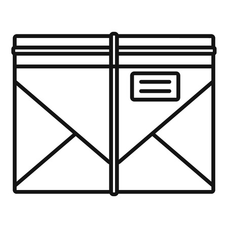 Post letter icon, outline style