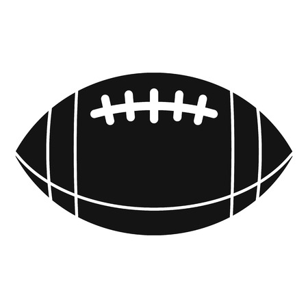 American football leather ball icon, simple style