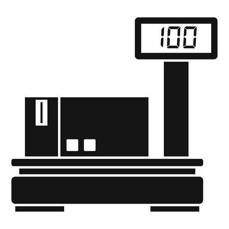 Warehouse scales icon, simple style