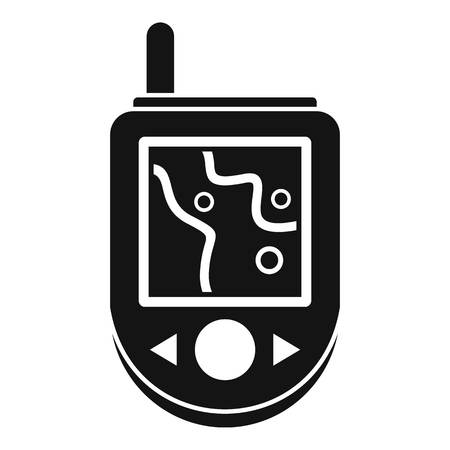 Icona del dispositivo GPS, stile semplice