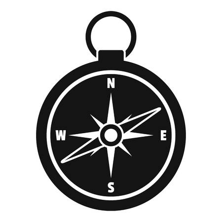 Hunting compass icon, simple style