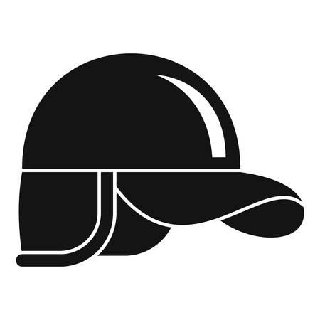 Hunter cap icon, simple style Stock Photo