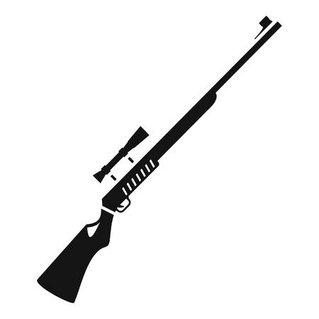 Hunter rifle icon, simple style