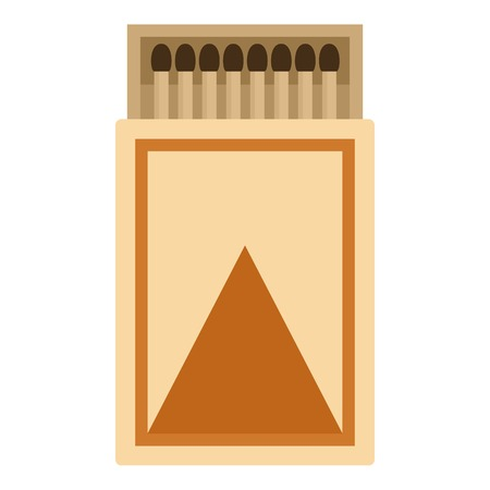 Box of matches icon, flat style
