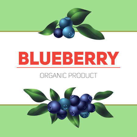 Blueberry concept background, cartoon style
