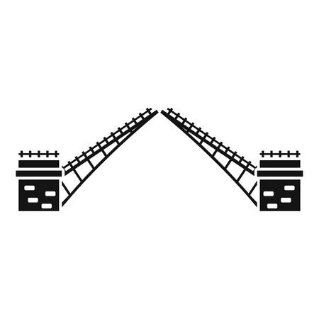 Swing bridge icon, simple style