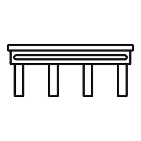 Autobahn bridge icon, outline style