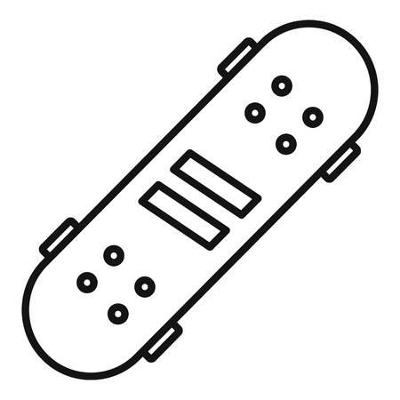Recreation skateboard icon, outline style 版權商用圖片