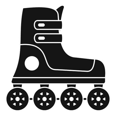 Race inline skates icon, simple style