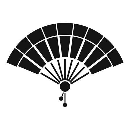 Icône de ventilateur de main du Japon, style simple Banque d'images