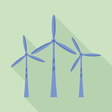 Innovation power turbine icon, flat style Reklamní fotografie