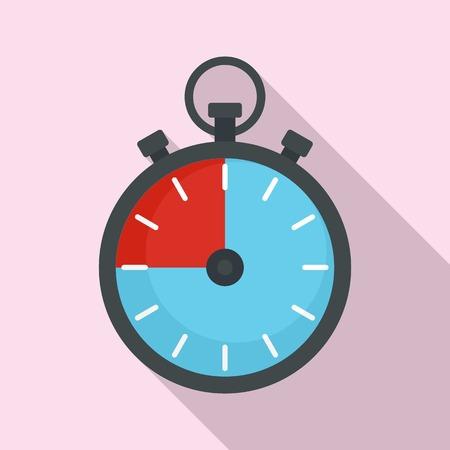 Fitness stopwatch icon. Flat illustration of fitness stopwatch icon for web design Imagens