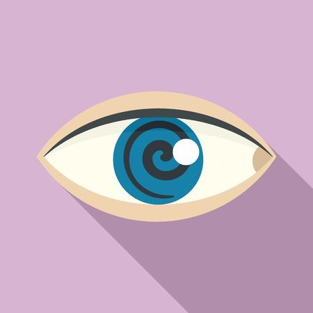 Magic eye hypnosis icon. Flat illustration of magic eye hypnosis icon for web design