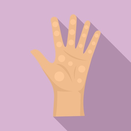 Read fortune on hand icon. Flat illustration of read fortune on hand icon for web design