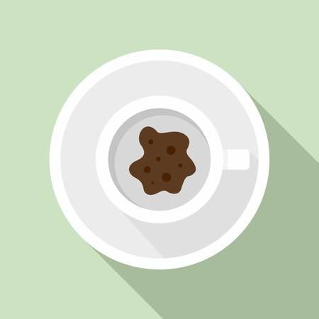 Future coffee teller icon. Flat illustration of future coffee teller icon for web design