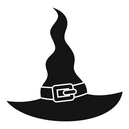 Witch hat icon. Simple illustration of witch hat icon for web design isolated on white background