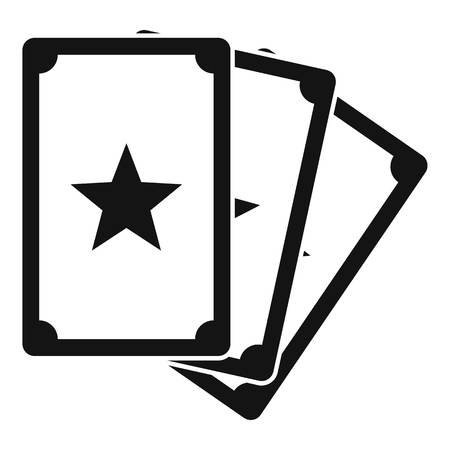 Magic fortune cards icon. Simple illustration of magic fortune cards icon for web design isolated on white background Stock Photo