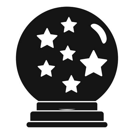 Magic star ball glass icon. Simple illustration of magic star ball glass icon for web design isolated on white background