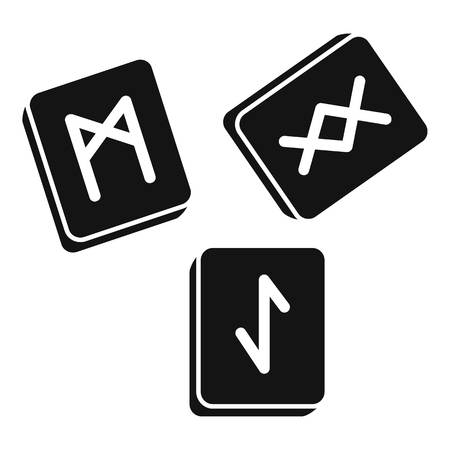 Runes cube icon. Simple illustration of runes cube icon for web design isolated on white background Zdjęcie Seryjne