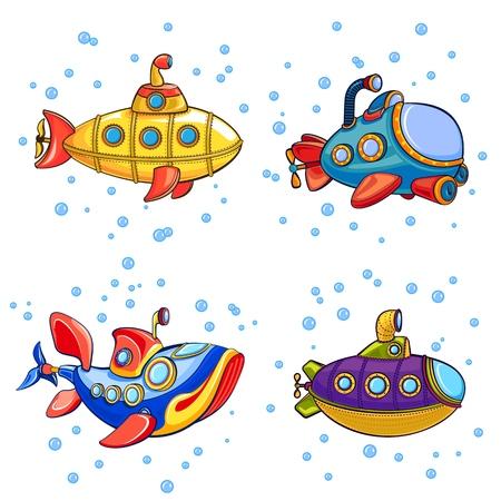 Periscope icons set. Cartoon set of periscope icons for web design