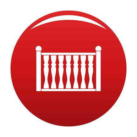 Fence with column icon. Simple illustration of fence with column vector icon for any design red