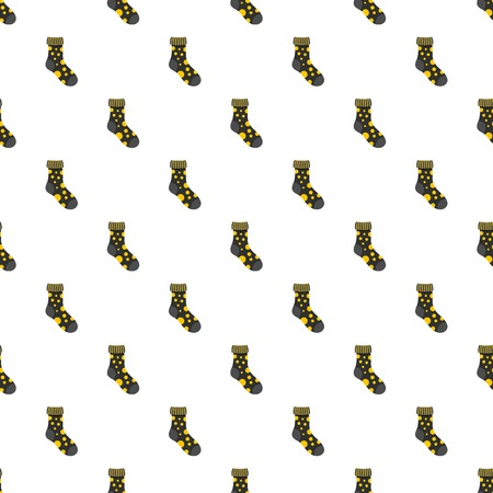 Textile sock pattern seamless vector repeat for any web design