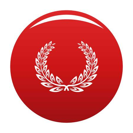 Certified wreath icon. Simple illustration of certified wreath vector icon for any design red