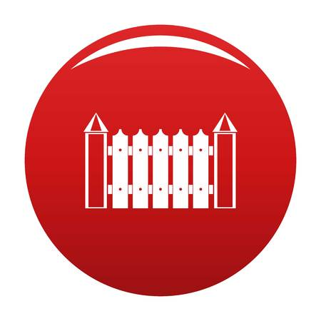 Garden fence icon. Simple illustration of garden fence vector icon for any design red
