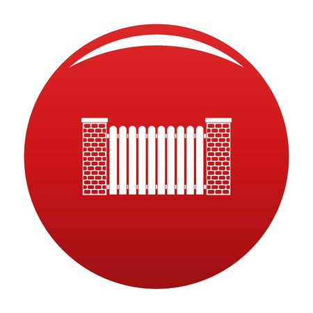 City fence icon vector red
