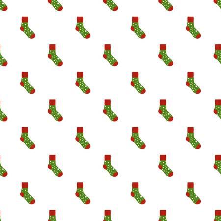 Fluffy sock pattern seamless vector Vettoriali