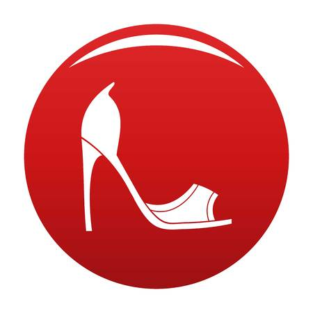Woman shoes icon vector red Illustration