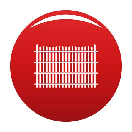 Country fence icon vector red