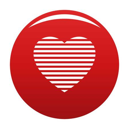 Warm heart icon vector red