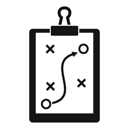 Icono de tablero táctico deportivo, estilo simple Ilustración de vector